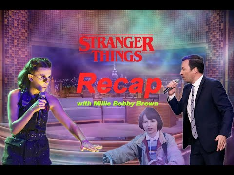 Millie Bobby Brown rap season 1 and 2 Stranger Things recap at the Tonight show  [1080p]