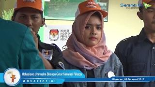 Mahasiswa Unmuslim Bireuen Gelar Simulasi Pilkada