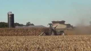 Jeffersonville (OH) United States  city photo : 2015 Corn Harvest - Jeffersonville Ohio with two Gleaner S68 Combines