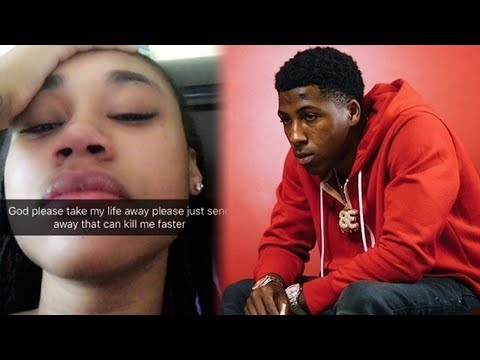 NBA YoungBoy Ex Girlfriend Says She Wants To Die And Breaks Down Crying (видео)