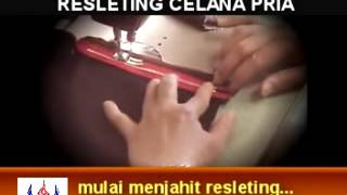Video Cara Jahit Resleting Celana Pria MP3, 3GP, MP4, WEBM, AVI, FLV Juli 2018