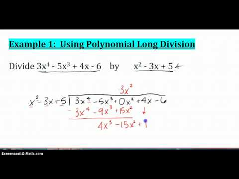 Section 5.5: Apply the Remainder and Factor Theorems