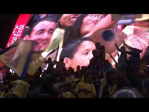 América 0-3 Tigres [Jornada 3, Apertura 2016]. Cantitos de la hinchada azulcrema - La Monumental - América