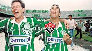 Palmeiras Campeão do Campeonato Brasileiro 1993 Palmeiras 2 x 0 VitóriaDia: 19/12/1993 Escalações Palmeiras Sérgio Gil...