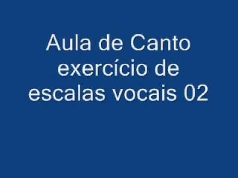 Aula de Canto 5/5 exerc�cio de escalas vocais 02