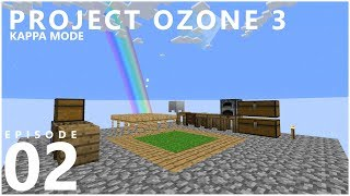 Project Ozone 3 Kappa Mode - COBBLE GEN [E02] (Modded Minecraft Sky Block)
