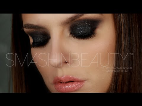 Black Smokey Eye Makeup Tutorial (50 Shades Of Grey Makeup)