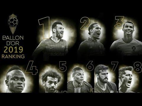 Ranking Ballon d'Or 2019