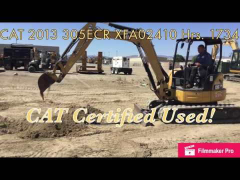 CATERPILLAR PELLES SUR CHAINES 305E CR equipment video OQtMrqZcbC8