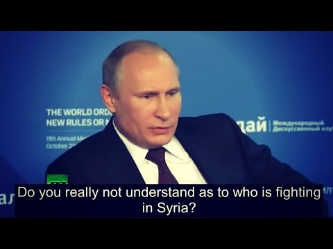 Putin Tells Everyone Who Created ISIS