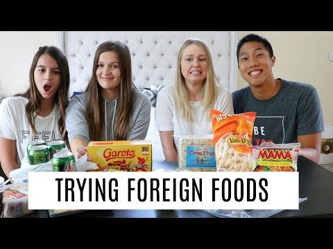 TRYING FOREIGN FOODS WITH KEREN & KHOA