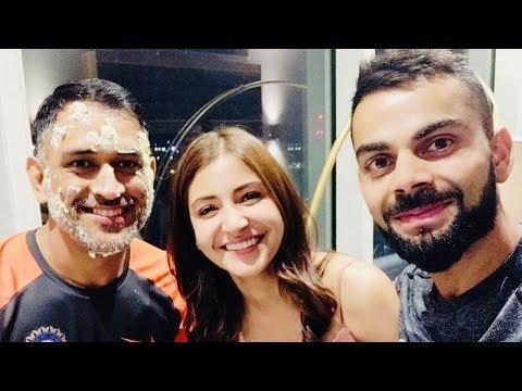Anushka Sharma-Virat Kohli Join MS Dhoni's Birth