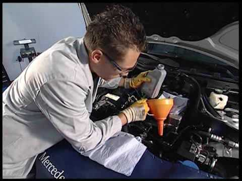 W204 Fill and bleed power steering pump