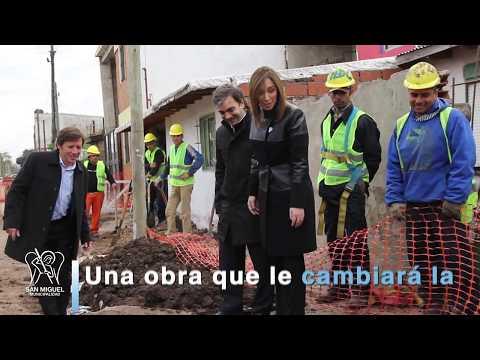 María Eugenia Vidal y Jaime Méndez recorrieron obras de cloacas