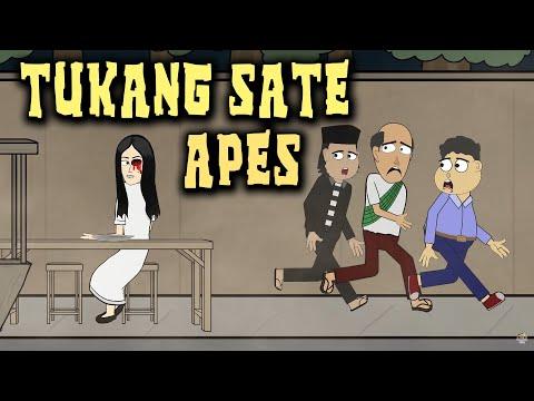 Download Video Tukang Sate Diganggu Hantu | Animasi Horor Kartun Lucu | Warganet Life