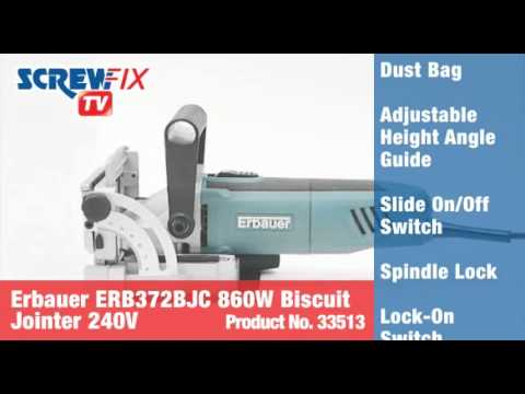 Erbauer ERB372BJC 860W Biscuit Jointer 230-240V
