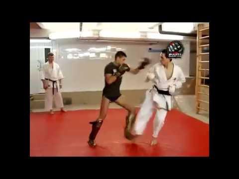 Кикбоксинг vs Сётокан каратэ (видео)