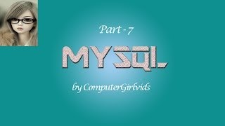 Mysql Tutorial In Hindi Part 7  OPERATOR
