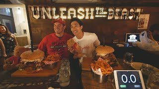 Enjoy the video? Comment, Subscribe and Share!Facebook - https://www.facebook.com/zermattneoInstagram - http://instagram.com/zermattneoSnapchat - zermattneoBurger challenge that i did with Randy over the past week! it's said to be a 7lbs burger but it sorta turns out a lot bigger lol.