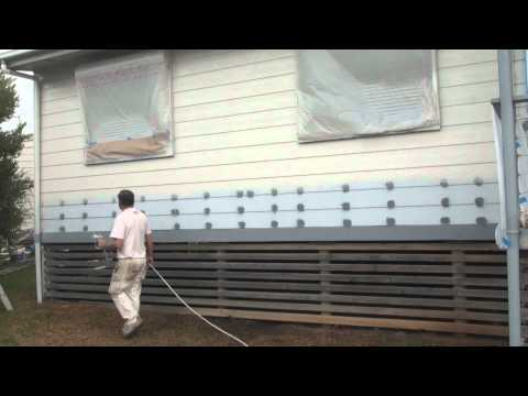 airless spray - http://how-to-paint.info How to use a airless paint sprayer to paint walls or any large surface, using a airless spray gun will reduce your painting time.