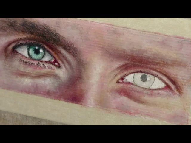 how to draw man s eyes pastel pencils sport videos
