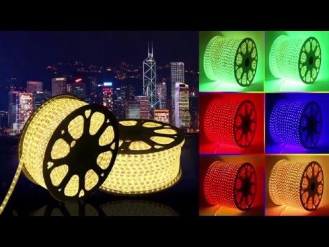 110V/220V waterproof LED Strip Lights Features