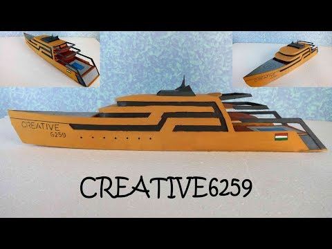 How To Make Boat(Luxury Yacht) - Amazing DIY Cardboard - Own Design