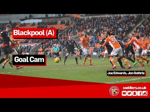GOAL CAM | Blackpool 2-2 Walsall | Joe Edwards, Jon Guthrie