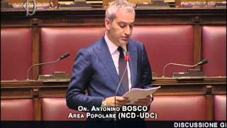Intervento dell'On. Antonino Bosco: mozione sul rilancio del mezzogiorno.
