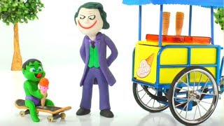 Video Baby Hulk Buys Ice Creams w/ Joker Play Doh Cartoons Stop Motion Animations MP3, 3GP, MP4, WEBM, AVI, FLV Januari 2019