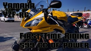 10. First Time Riding 600cc: POV 2016 Yamaha YZF R6 - Motovlog #14