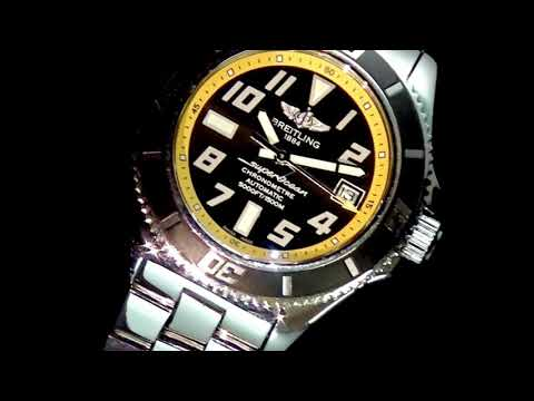 Men's Stainless Steel Breitling Superocean Automatic Wristwatch