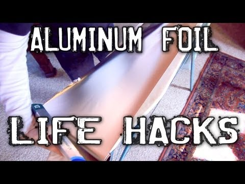 household - Quick and Simple life hacks: FOIL EDITION! 1. Need to scrape off the grill but can't find that wire brush? Ball up the foil, get it deep between the grates a...