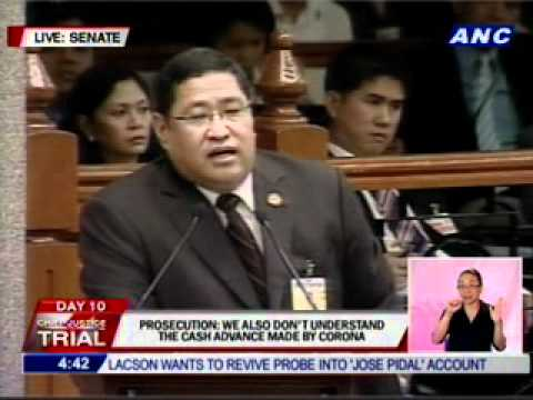 Sen. Lapid's first time to rise in #CJonTrial