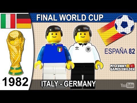 World Cup Final 1982 • Italy vs West Germany 3-1• All Goals Highlights Lego Football Italia Germania