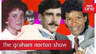 Programme website: http://bbc.in/2t3zZ9D Graham shows some hilarious throwback photos of his guests.