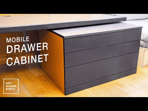 Making a Mobile Drawer Cabinet for the Loft Bed // Work Space - Ep. 7