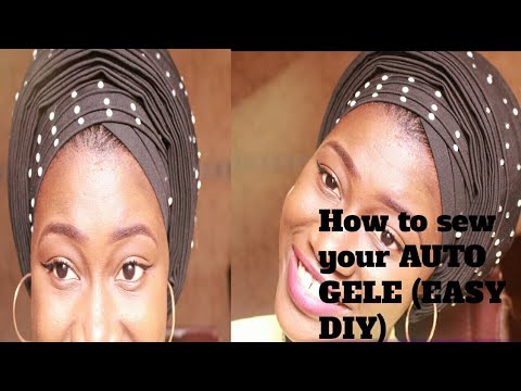 How To Sew A V-shaped Pleated  Auto Gele (EASY DIY )