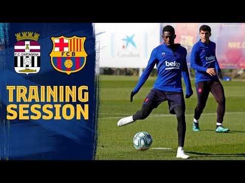 Training session to prepare the friendly match against Cartagena