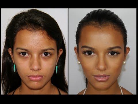 Maquillaje Natural Para pieles Trigueñas y como Esculpir el Rostro
