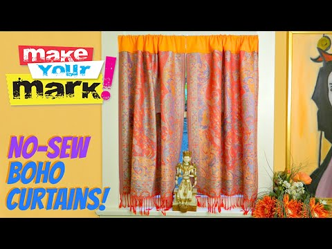 No-Sew Boho Curtains