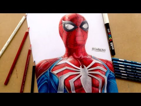 COMO MEZCLAR COLORES ►Drawing  Spider-Man - PS4| Esteban Arts #Marvel #SpiderMan