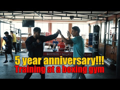 (5 year ANNIVERSARY!!! Training at a boxing gym| Sushant Pradhan - Duration: 10 minutes.)