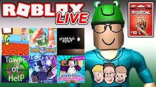 Roblox LIVE with Schlamaddy   New Game Every 10 Minuteds   Enter Robux Giveaway   Family Friendly