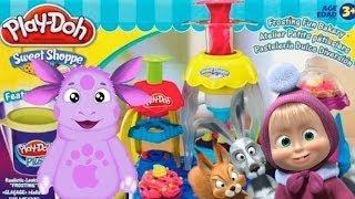 Маша и медведь Masha i medved все серии Play doh Лунтик  Luntik Frozen toys Disney