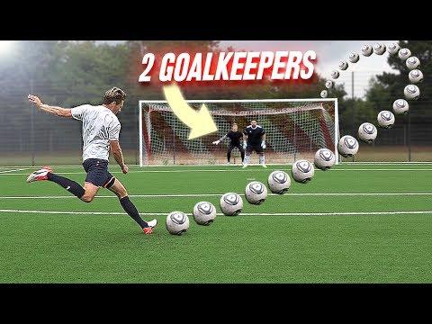 FREE KICK CHALLENGE vs 2 GOALKEEPERS - Thời lượng: 7 phút, 47 giây.