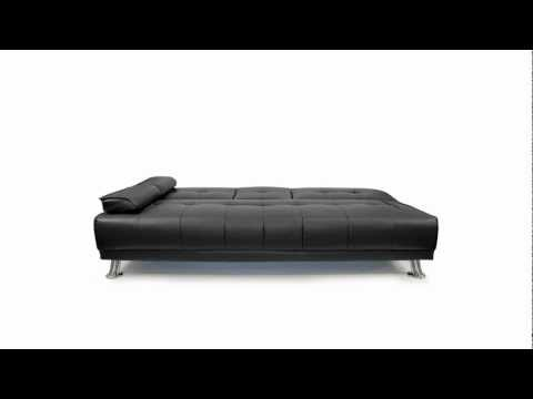 Furnisho - New Manhattan 3 Seater Faux Leather Sofa Bed - Modern Designer Living Room Furniture
