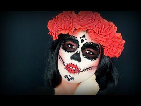 Dia De Los Muertos Calavera   Sugar Skull Tutorial 2017