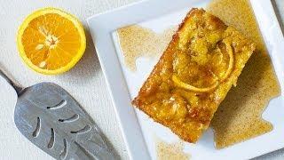 Griekse sinaasappelcake van filodeeg
