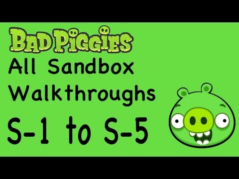 Bad Piggies - All Sandbox Levels Walkthrough S-1 to S-5 All Stars | WikiGameGuides